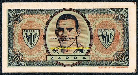 1945 Telmo Zarra card play money
